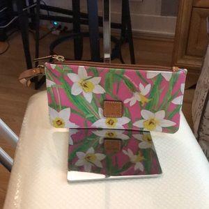 NWOT Dooney & Bourke Pink Floral Wristlet